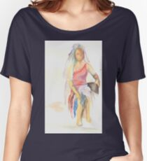 watercolor of a woman Women's Relaxed Fit T-Shirt