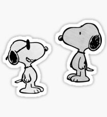 2 Pack Combo: Snoopy  Sticker