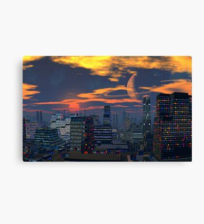 Titan City Sunset Canvas Print