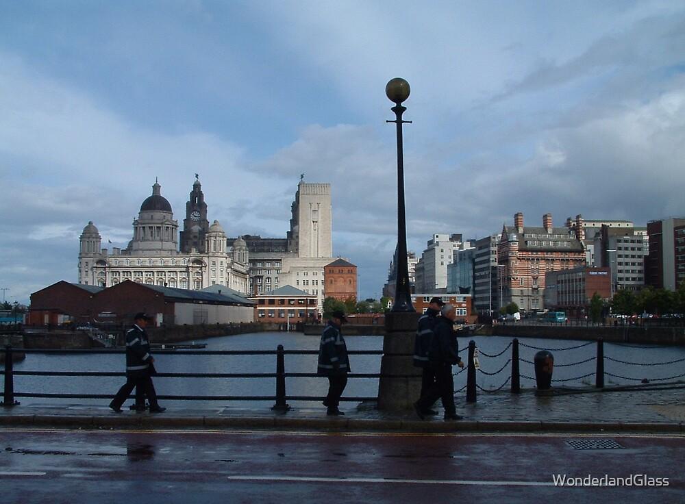 street scene near the Albert Docks by WonderlandGlass