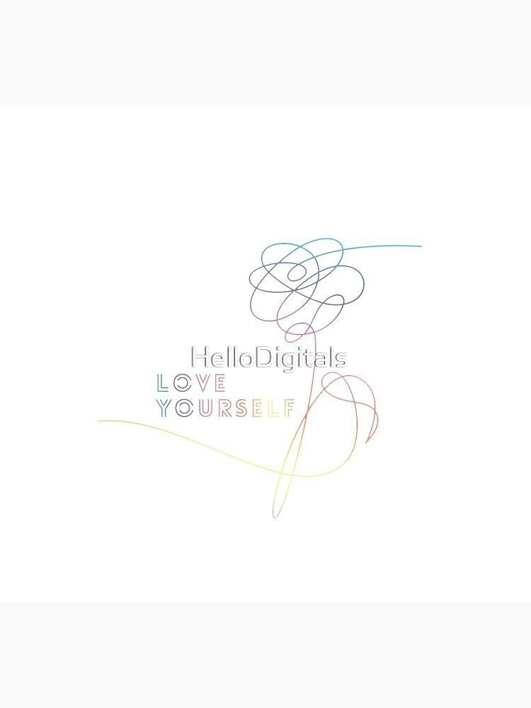 Liebe dich ihre O Version Armee BTS Bangtan Sonyeondan Kpop Kdrama Merchandise von HelloDigitals