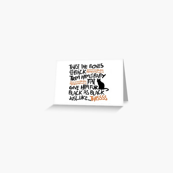 Binx Spell Greeting Card