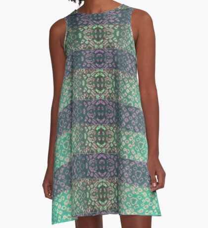 Shibori Sue Mint A-Line Dress