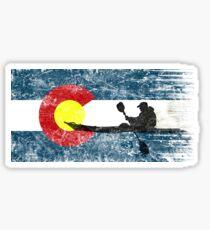 Kayaking Colorado. Paddling, Flag. / Kajak Sticker