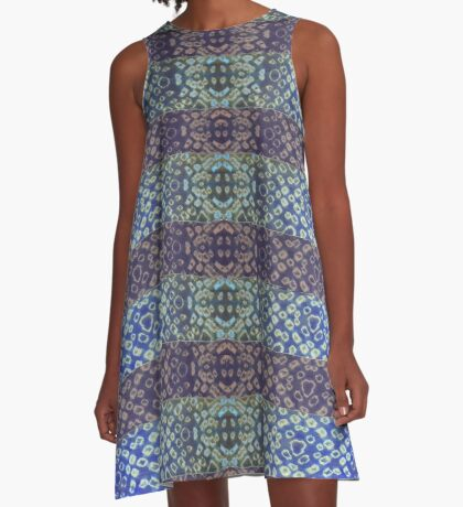 Shibori Sue Blue A-Line Dress