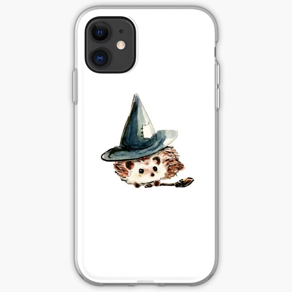 Hedgehog Witch iPhone Soft Case