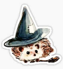 Hedgehog Witch Sticker