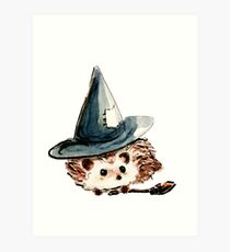Hedgehog Witch Art Print