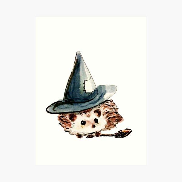 Hedgehog Witch Art Print
