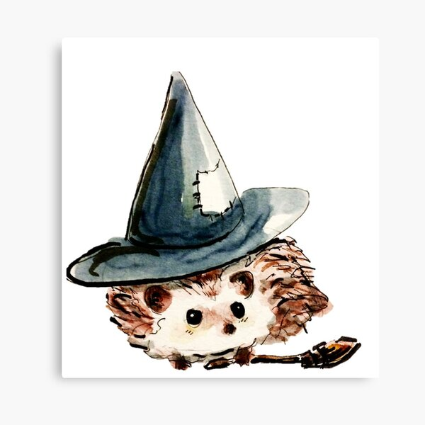 Hedgehog Witch Canvas Print