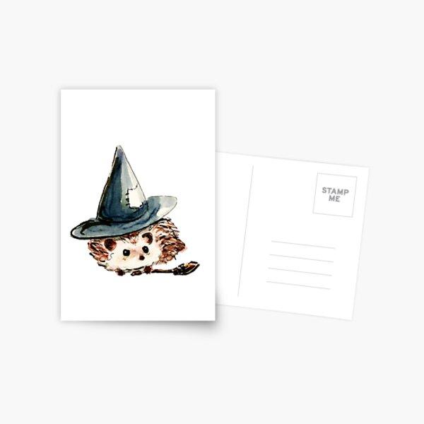 Hedgehog Witch Postcard