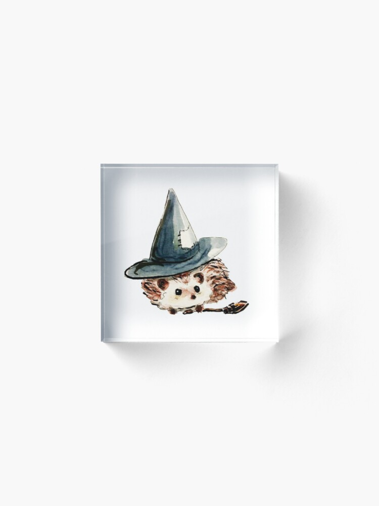 Alternate view of Hedgehog Witch Acrylic Block