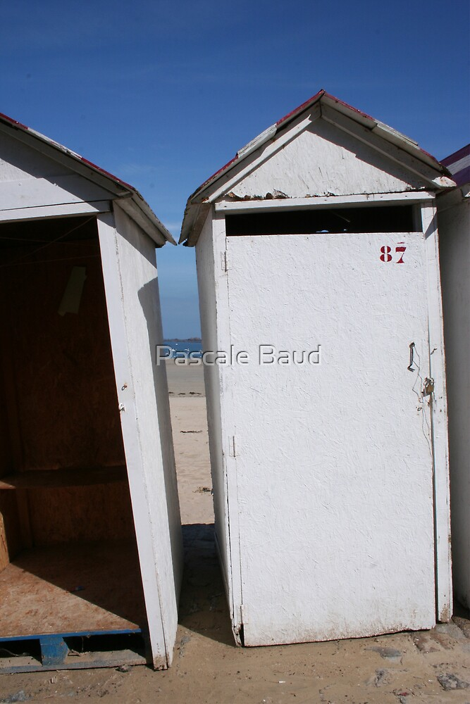 Bathing Huts - Cabines de bain, Saint Lunaire. by Pascale Baud