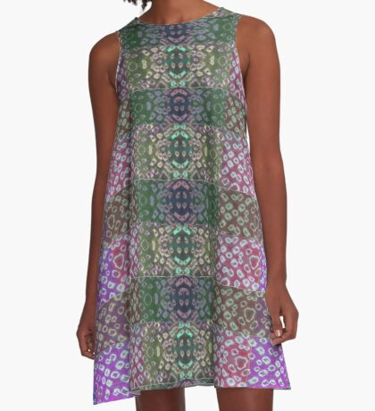 Shibori Sue Plaid A-Line Dress