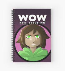 Cuaderno de espiral Wow, ¿qué tal, no?