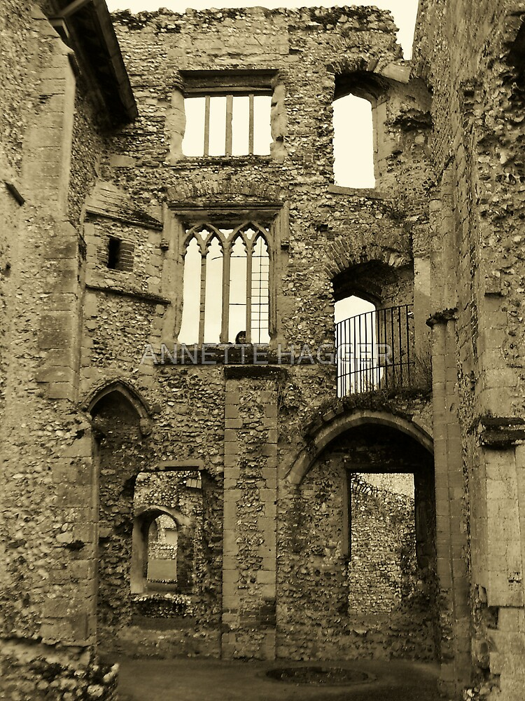 CASTLE ACRE PRIORY RUINS.  NORFOLK by ANNETTE HAGGER