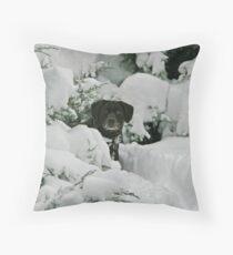 Snow Plow Throw Pillow