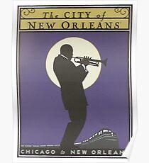 Weinleseplakat - Stadt von New Orleans Poster