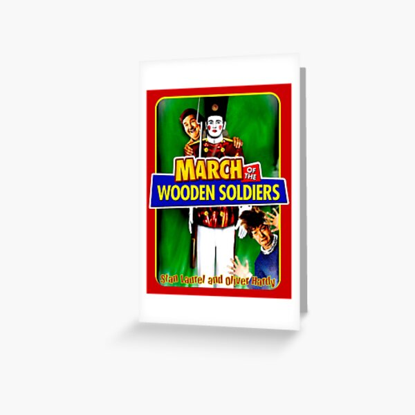 LAUREL and HARDY : March of the Wooden Soldiers Print Greeting Card