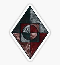 geometric granite diamond Sticker