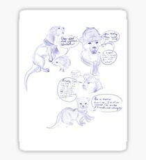 Sherlock Animal AU Sticker