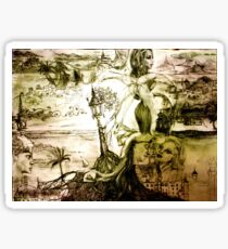 fairy tale landscape Sticker