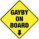 GAYBY ON BOARD clothing by Ethel Yarwood
