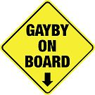 GAYBY ON BOARD clothing by Ethel Yarwood