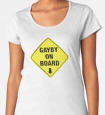 GAYBY ON BOARD clothing Women's Premium T-Shirt