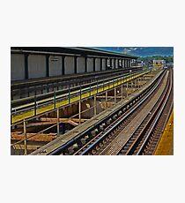 Happy Train Station Photographic Print