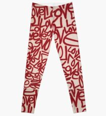 Renda Writer - Wearable Mural - LOVE Leggings