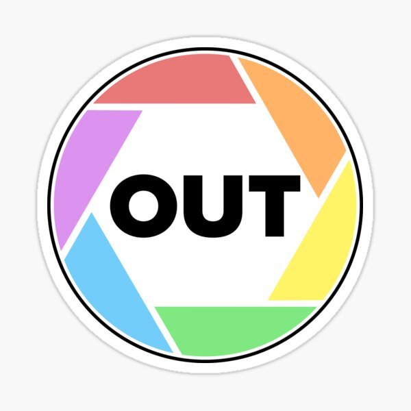 OUT Photo Series Logo Sticker