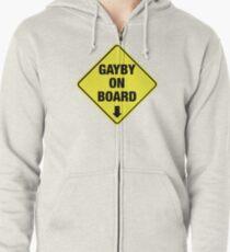 GAYBY ON BOARD clothing Zipped Hoodie