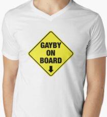 GAYBY ON BOARD clothing Men's V-Neck T-Shirt