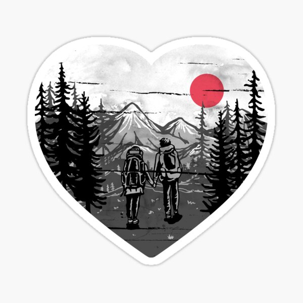 Hike and Love Sticker