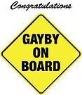 GAYBY ON BOARD cards by Ethel Yarwood