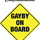 GAYBY ON BOARD cards by Ethel Yarwood