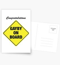 GAYBY ON BOARD cards Postcards