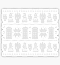Doctor Who Ugly Christmas Design Sticker