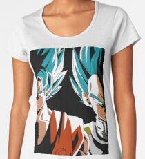 guku y  vegueta ss blue dbz super sayain Women's Premium T-Shirt