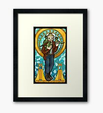 St. Christopher of the Velociraptors Framed Print