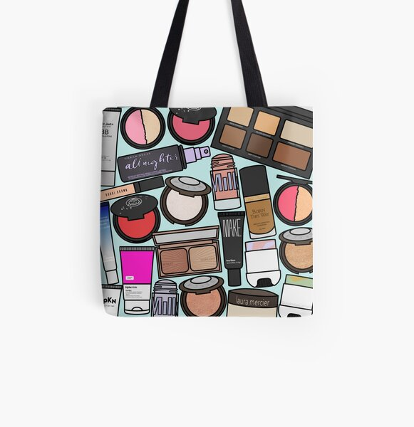 Makeup All Over Print Tote Bag