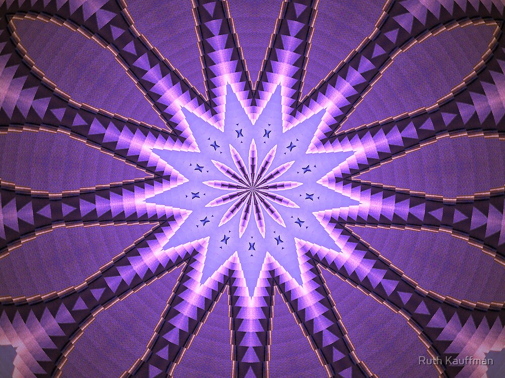 Abstract Purple Star (of sorts) by Ruth Kauffman