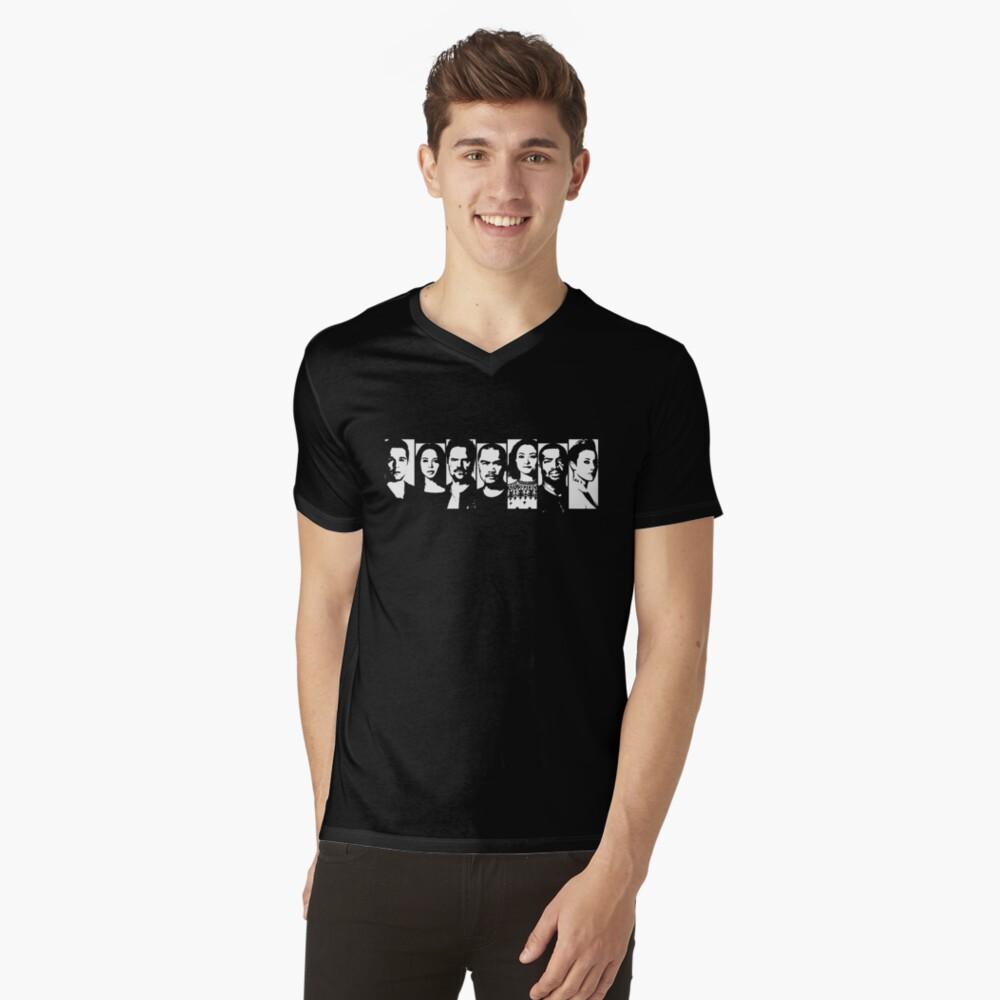 Dark Matter - Raza Crew Stencil Style V-Neck T-Shirt