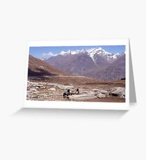Rohtang Pass Greeting Card