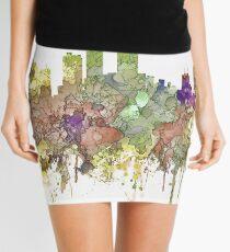 Honolulu, Hawaii Skyline SG - Faded Glory Mini Skirt
