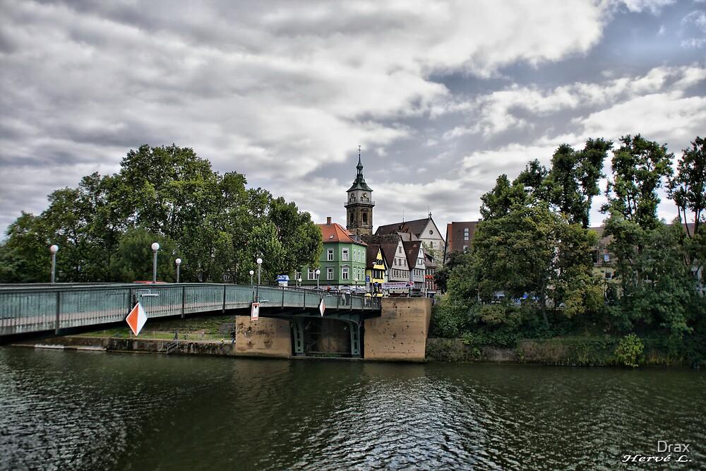 Bridge on the Neckar  by Drax