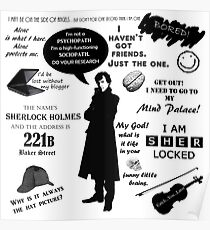Sherlock Holmes Quotes Poster