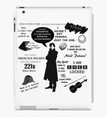 Sherlock Holmes Quotes iPad Case/Skin