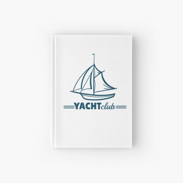 Yacht Club Badge Hardcover Journal